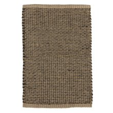 Natural & Black Woven Basketweave Jute 2'x3' Rug.