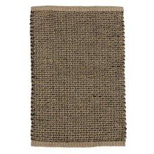 Natural & Black Woven Basketweave Jute 2'x3' Rug.