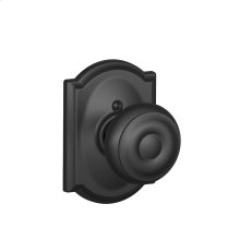 Georgian Knob with Camelot trim Non-turning Lock - Matte Black