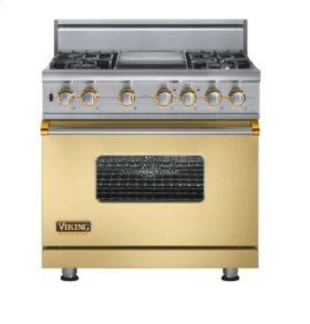 "36"" Custom Sealed Burner Self-Cleaning Range, Propane Gas, Brass Accent"