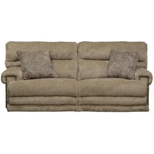 Power Headrest w/Lumbar Lay Flat Recl Sofa w/Ext Ottoman