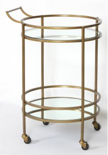 Marlow Bar Cart-antique Brass
