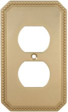 Duplex Receptacle Beaded Switchplate Product Image