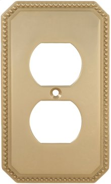 Duplex Receptacle Beaded Switchplate