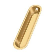 "Flush Pull, 4""x 1""x 1/2"" - PVD Polished Brass"