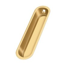 "Flush Pull, 4""x 1""x 1/2"" - PVD Polished Brass"