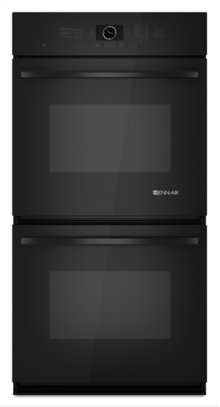 Black Jenn-Air® Double Wall Oven with Upper MultiMode® Convection, 27""