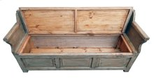 Driftwood Storage Bench