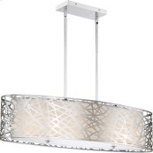 Abode Island Chandelier in Polished Chrome