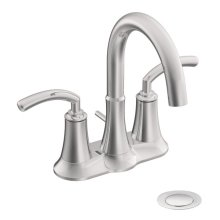 Icon chrome two-handle bathroom faucet