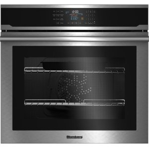 "Blomberg30"" Single Wall Oven, self clean, cool touch glass, stainless"