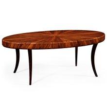 Art Deco High Lustre Oval Coffee Table