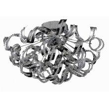 2068 Tiffany Collection Flush Mount Chrome Finish (Elegant Cut Crystals)