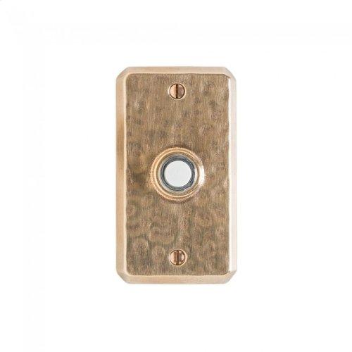 Hammered Doorbell Button White Bronze Medium