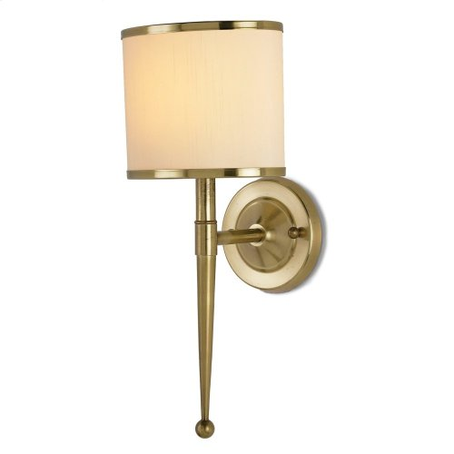 Primo Cream Brass Wall Sconce