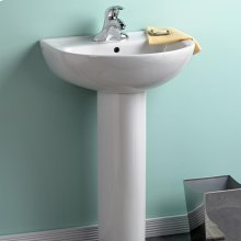 Evolution 24-inch Pedestal Sink - White