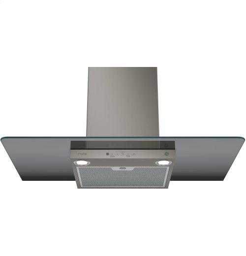 "GE Profile™ Series 36"" Wall-Mount Glass Canopy Chimney Hood"