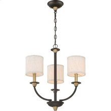 Audley Mini Chandelier in Old Bronze