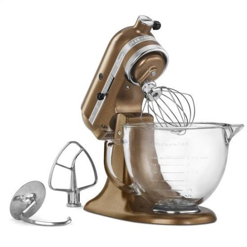 KitchenAid® Artisan® Design Series 5 Quart Tilt-Head Stand Mixer with Glass Bowl - Antique Copper