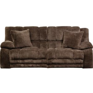 Lay Flat Reclining Console Loveseat w/ Extended Ottomon