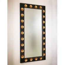 Domino Floor Mirror-Black/Gold Leaf