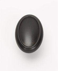 Classic Traditional Oval Knob A1560 - Bronze