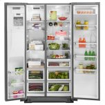 Kitchenaid 22.7 Cu. Ft. Counter Depth Side-By-Side Refrigerator With Exterior Ice And Water - Stainless Steel