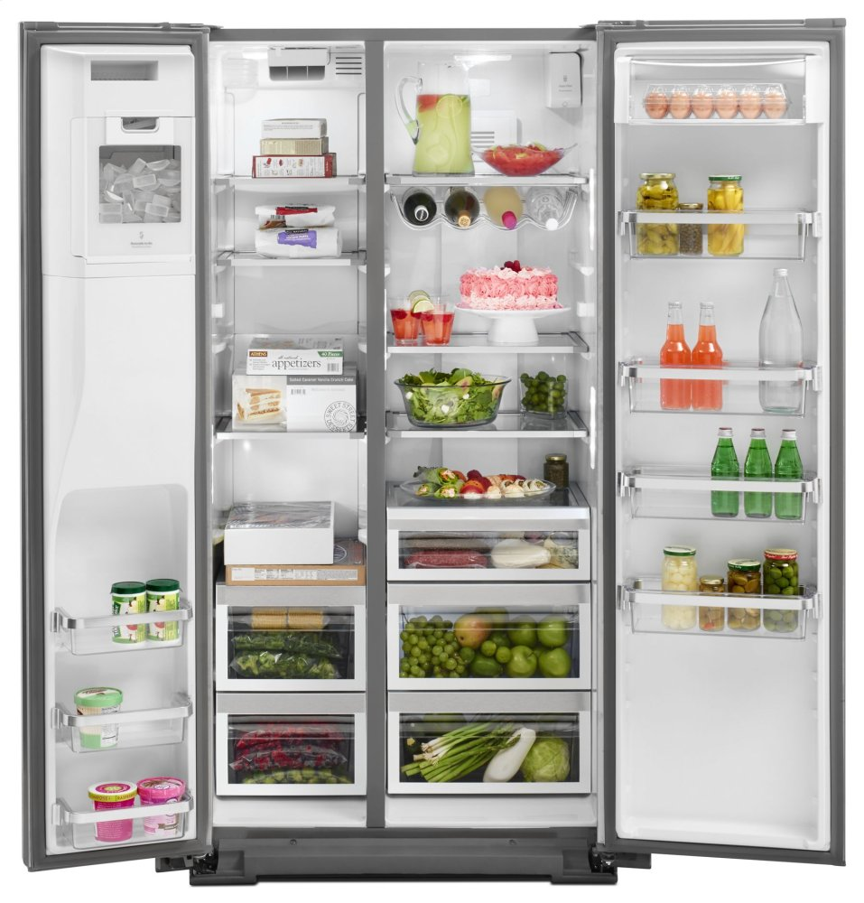 Charmant Ft. Counter Depth Side By Side Refrigerator With Exterior Ice