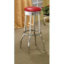 Cleveland Contemporary Red Bar-height Stool