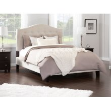 Naples Upholstered Bed King in Pebble Beach