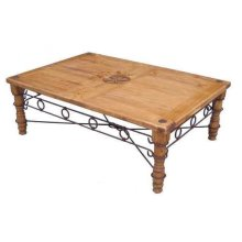 Star Cocktail Table W/ Iron Accents