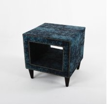 Upholstered Side table with legs