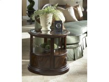 Oval Storage End Table