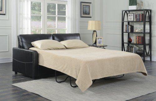 Emerald Home Slumber Queen Sleeper W/gel Foam Mattress Black U3215-50-16