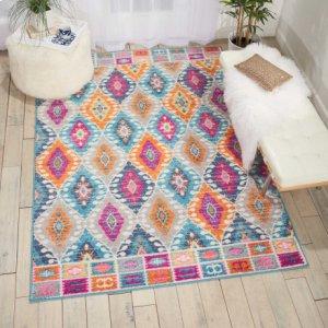 Passion Psn02 Multicolor Rectangle Rug 3'9'' X 5'9''