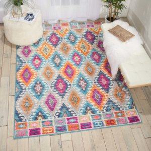 Passion Psn02 Multicolor Rectangle Rug 1'10'' X 2'10''