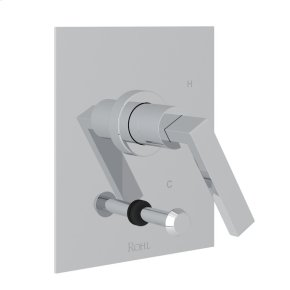 Polished Chrome Wave Pressure Balance Trim With Diverter with Metal Lever