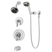 Symmons Allura® Tub/Shower/Hand Shower System - Polished Chrome