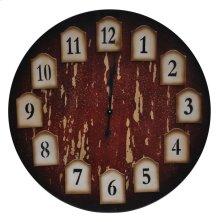 Distressed Redwood Clock