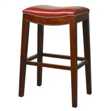 Elmo Bonded Leather Bar Stool, Red