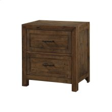 Emerald Home Pine Valley 2 Drawer Nightstand-burnished Pine Finish B744-04