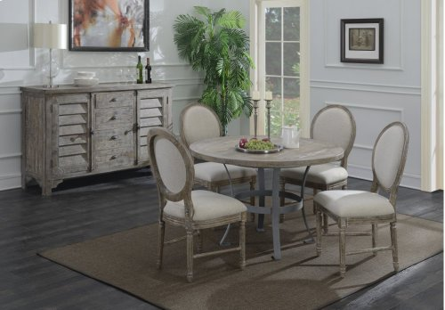 Emerald Home Interlude 5-piece Dining Set Sandstone Gray D560-15-20-5pcset-k