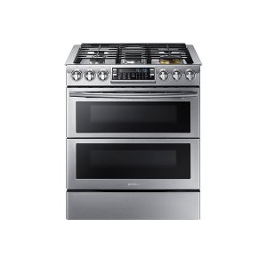 Samsung Appliances5.8 cu. ft. Slide-In Gas Range with Flex Duo & Dual Door in Stainless Steel