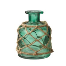 Sea Green Jar with Rope Vase.