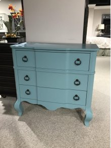 Turquoise Vintage Accent Console