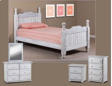 Twin Cannonball Panel Post Bed