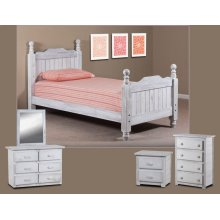 Queen Cannonball Panel Post Bed