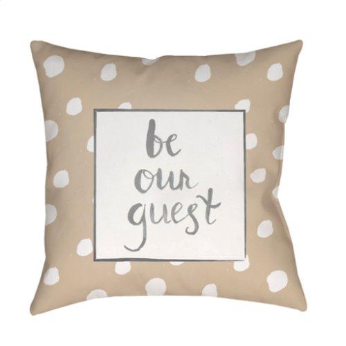 "Be Our Guest QTE-004 20"" x 20"""