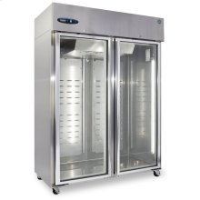 Freezer, Two Section Upright, Full Glass Door