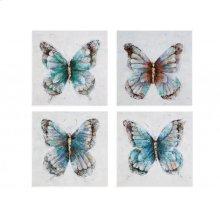 Metallic Butterflies (S/4)